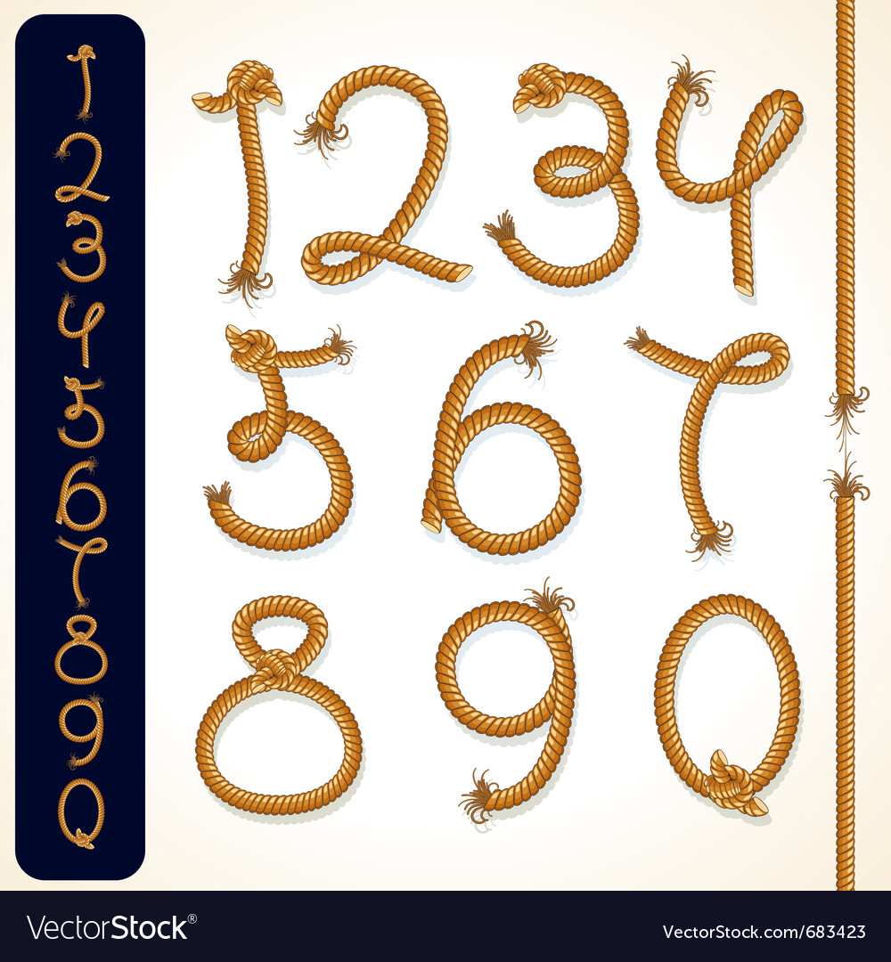 Rope numbers vector | Price: 3 Credit (USD $3)