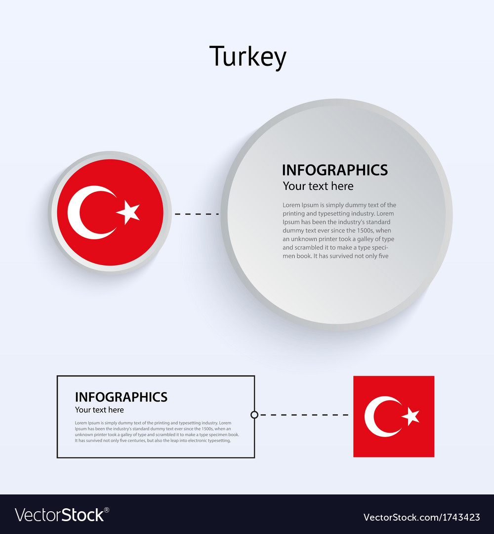 Turkey country set of banners vector | Price: 1 Credit (USD $1)