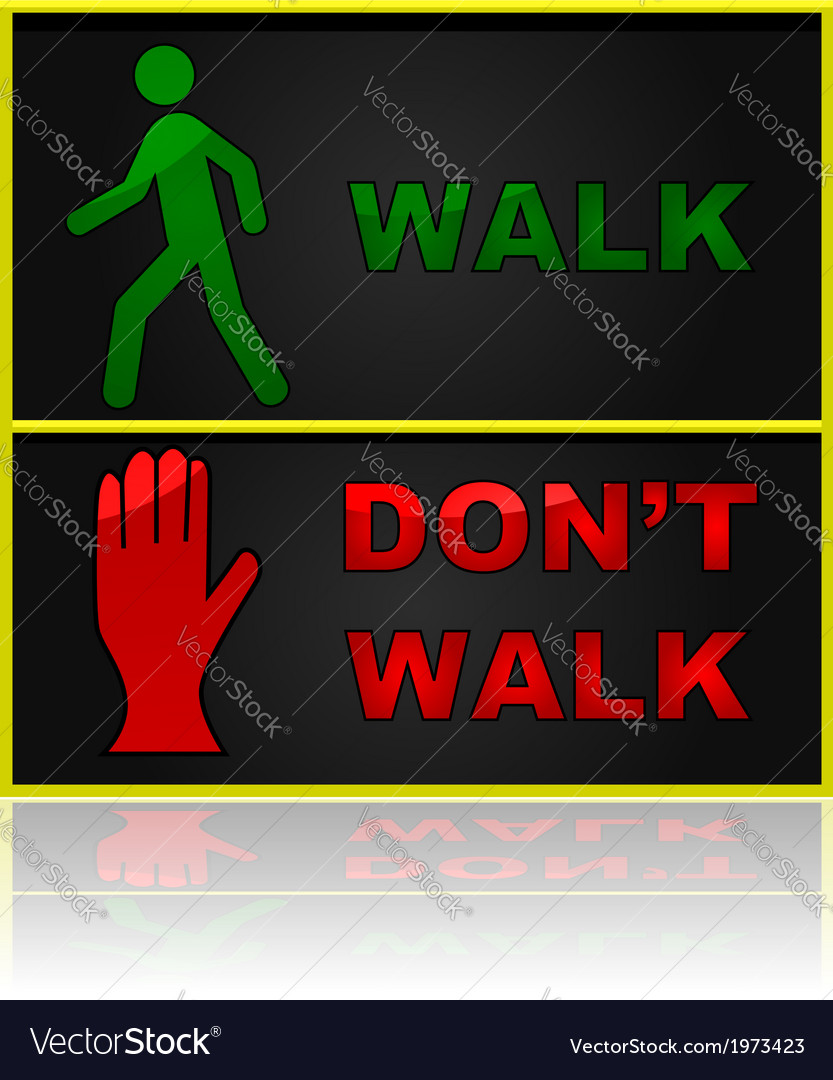 Walk and dont walk sign vector | Price: 1 Credit (USD $1)