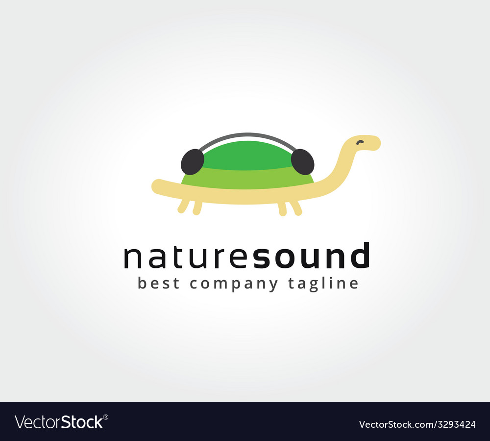 Abstract turtle with music logo icon concept vector | Price: 1 Credit (USD $1)