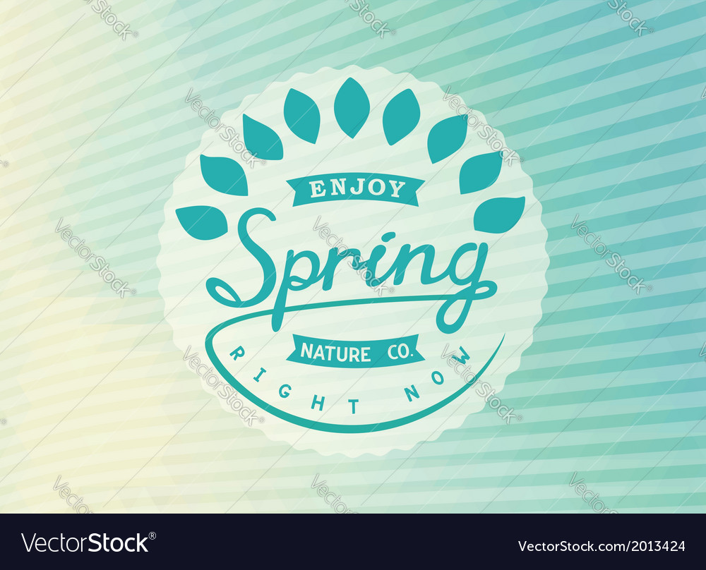 Authors design label spring vector | Price: 1 Credit (USD $1)