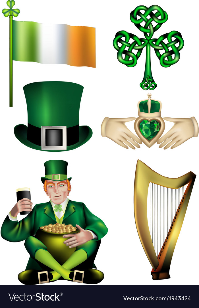 Collection of irish vector | Price: 1 Credit (USD $1)