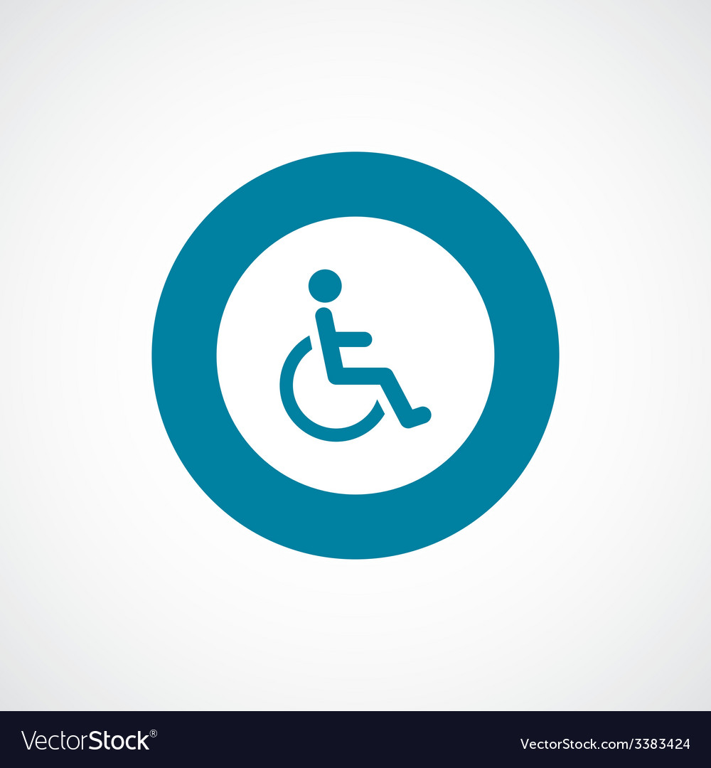 Cripple bold blue border circle icon vector | Price: 1 Credit (USD $1)