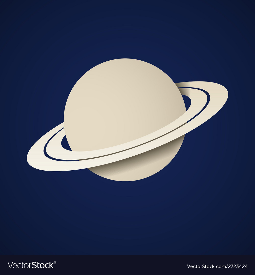 Paper planet saturn icon vector | Price: 1 Credit (USD $1)