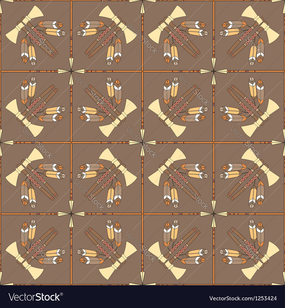 Seamless pattern with tomahawks and spears vector | Price: 1 Credit (USD $1)
