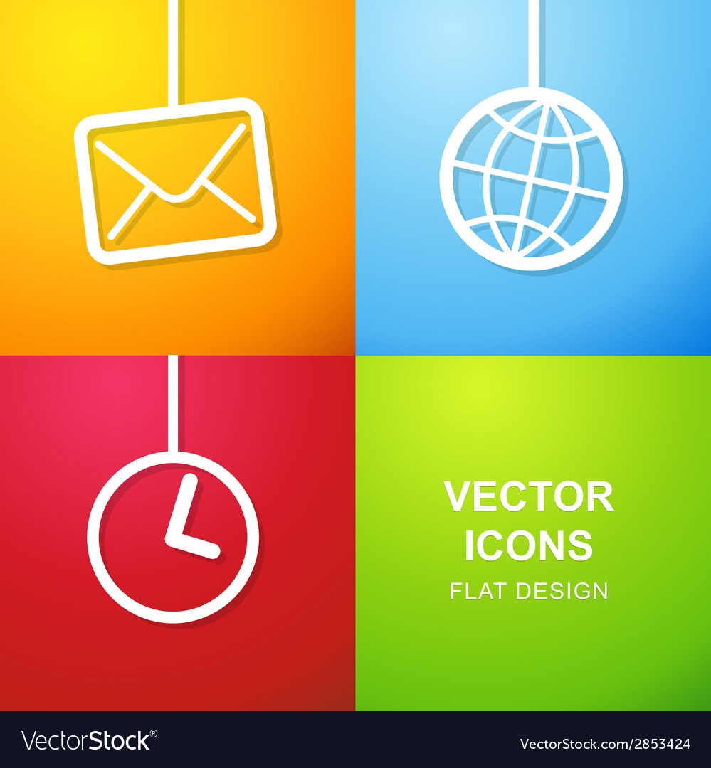 Set of 3 simple icons for web use vector | Price: 1 Credit (USD $1)