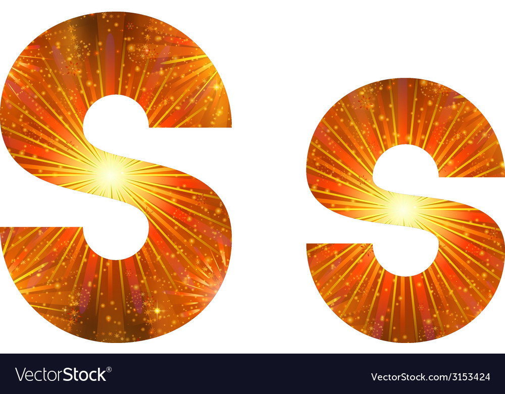 Set of letters firework s vector | Price: 1 Credit (USD $1)