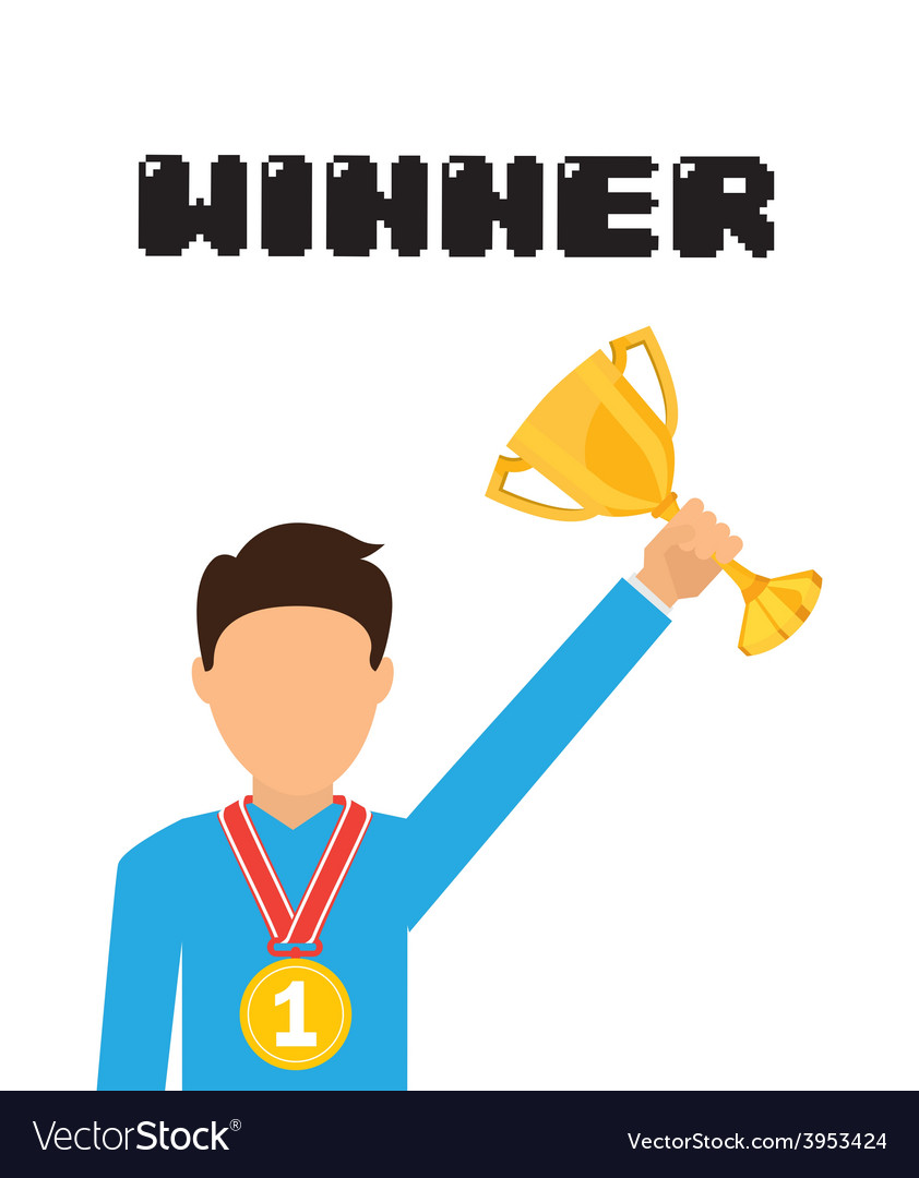 Winner concept vector | Price: 1 Credit (USD $1)