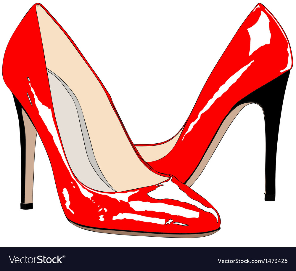 A pair of red shoes vector | Price: 1 Credit (USD $1)