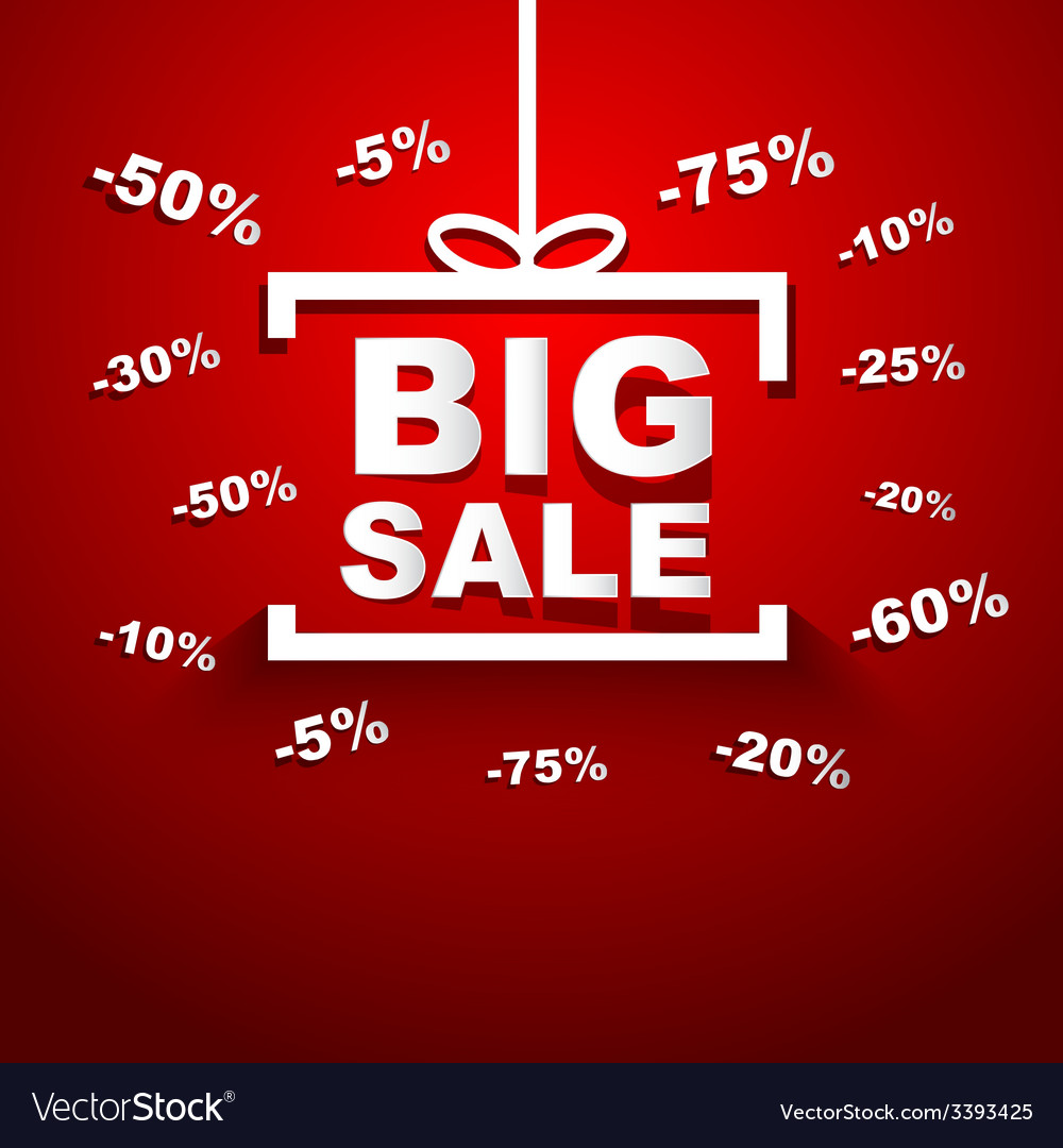Big sale special offer discount vector | Price: 1 Credit (USD $1)