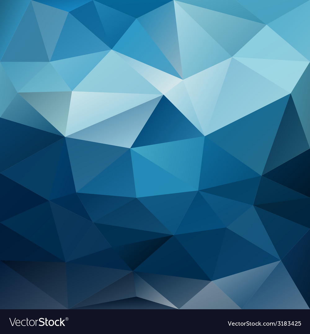Blue night sky triangular background vector | Price: 1 Credit (USD $1)