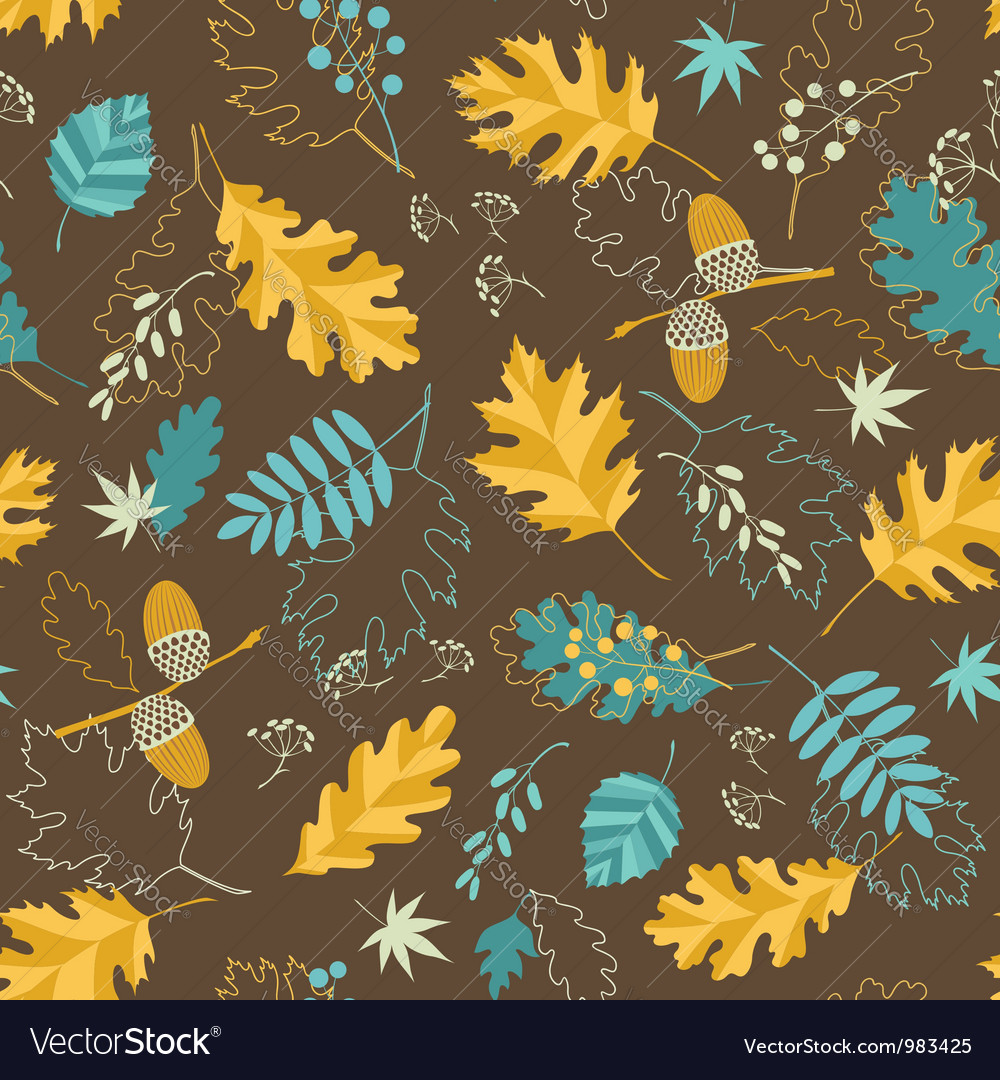 Brown fall pattern vector | Price: 1 Credit (USD $1)