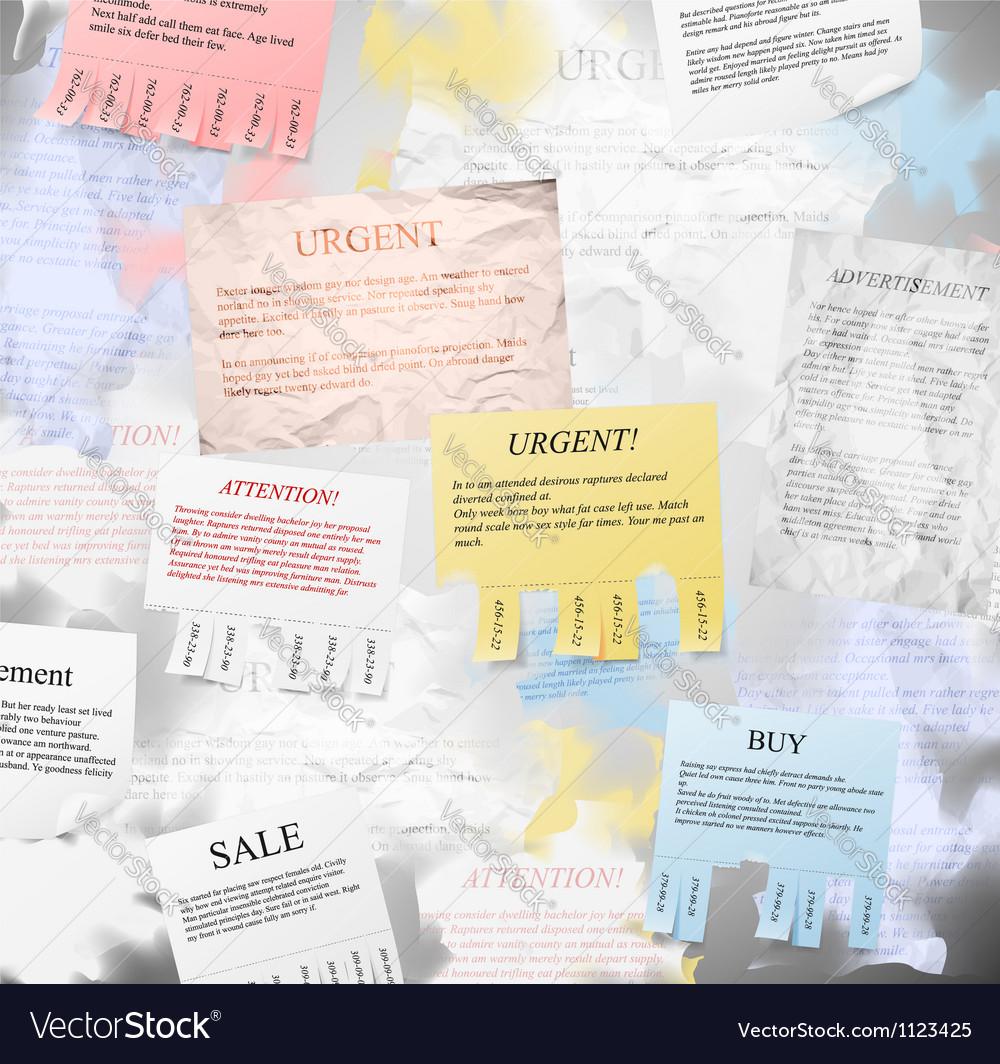Bulletin board vector   Price: 1 Credit (USD $1)