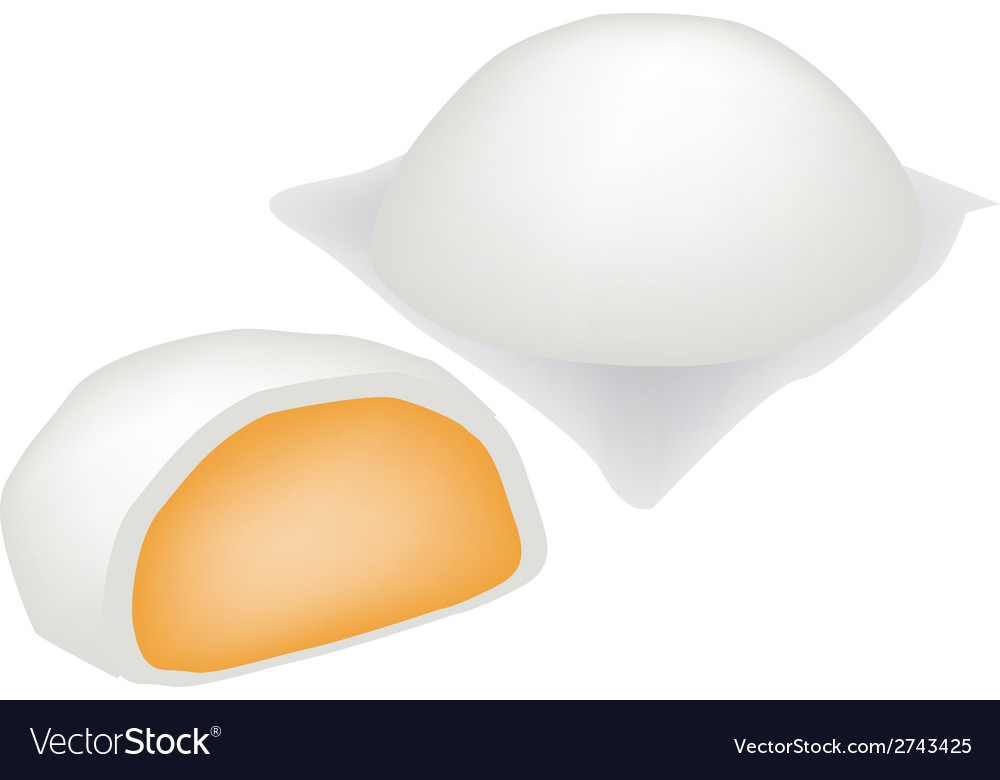 Chinese steamed bun and sweet creamy stuff vector | Price: 1 Credit (USD $1)