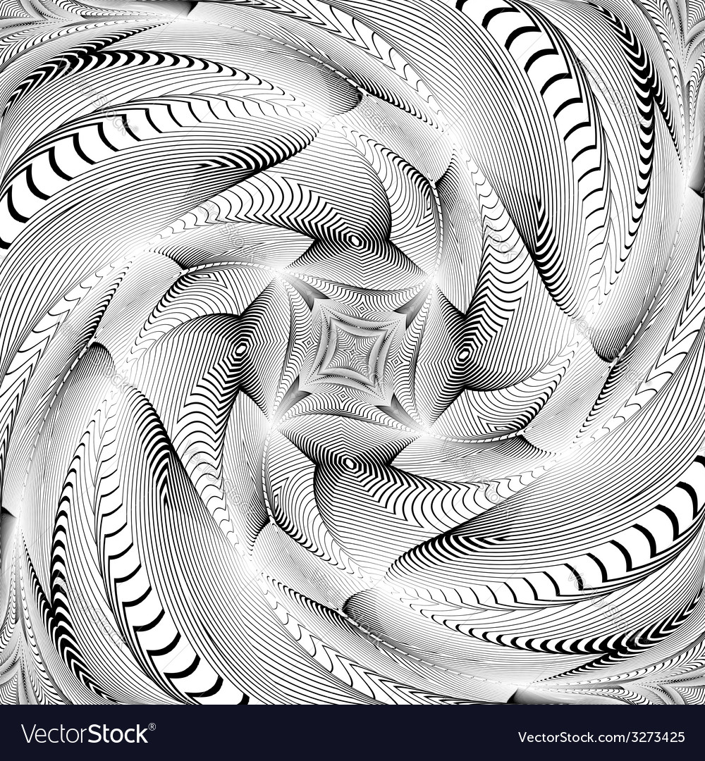 Design monochrome swirl movement background vector | Price: 1 Credit (USD $1)