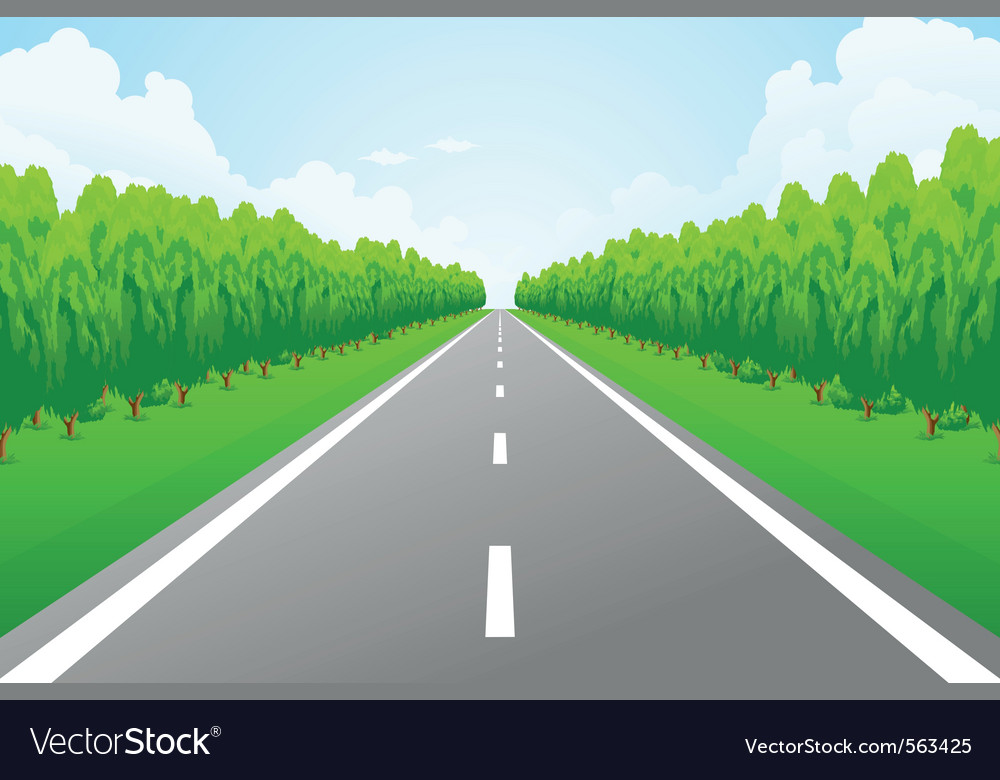 Empty road vector | Price: 1 Credit (USD $1)