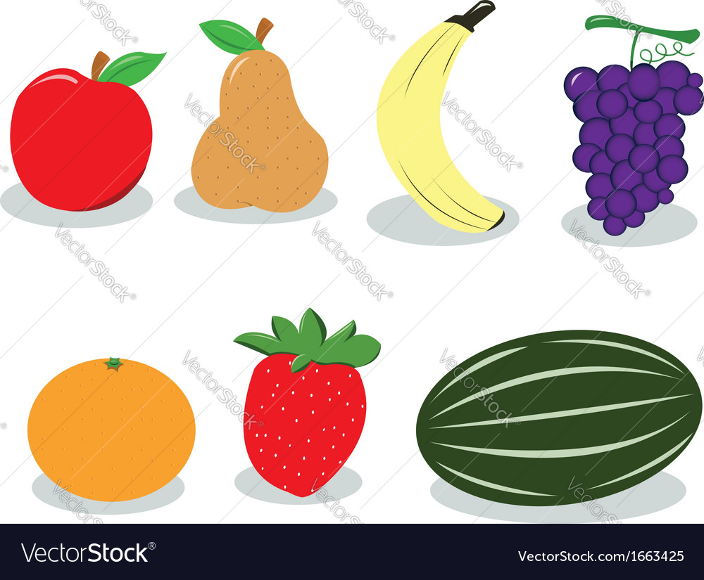 Group of fruit vector | Price: 1 Credit (USD $1)