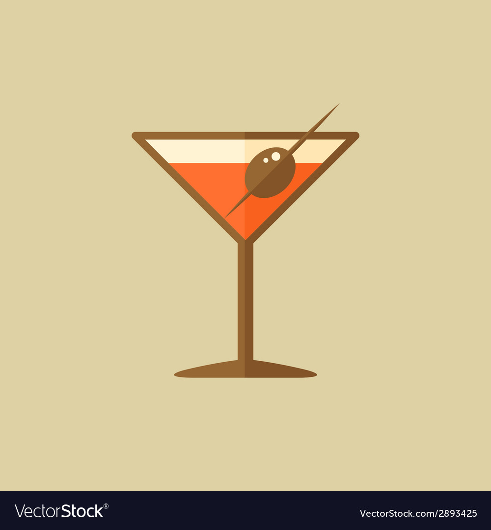 Martini food flat icon vector | Price: 1 Credit (USD $1)