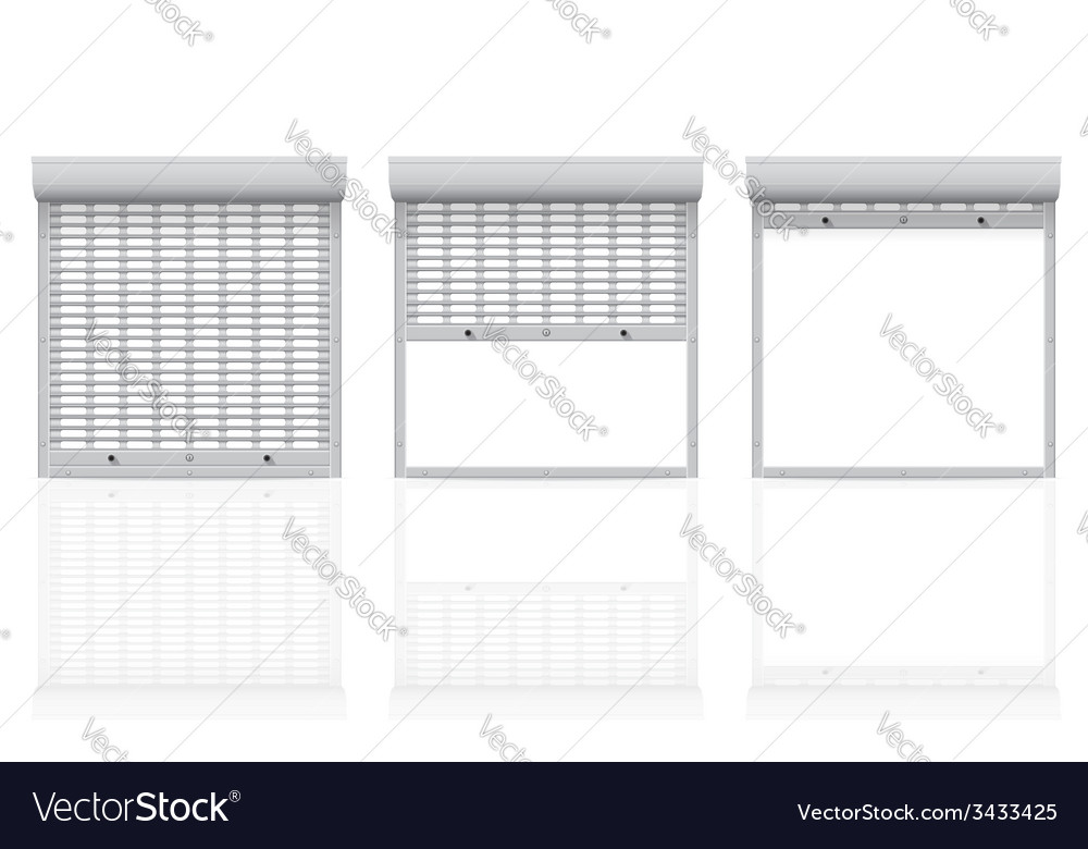 Metal perforated rolling shutters 04 vector | Price: 1 Credit (USD $1)