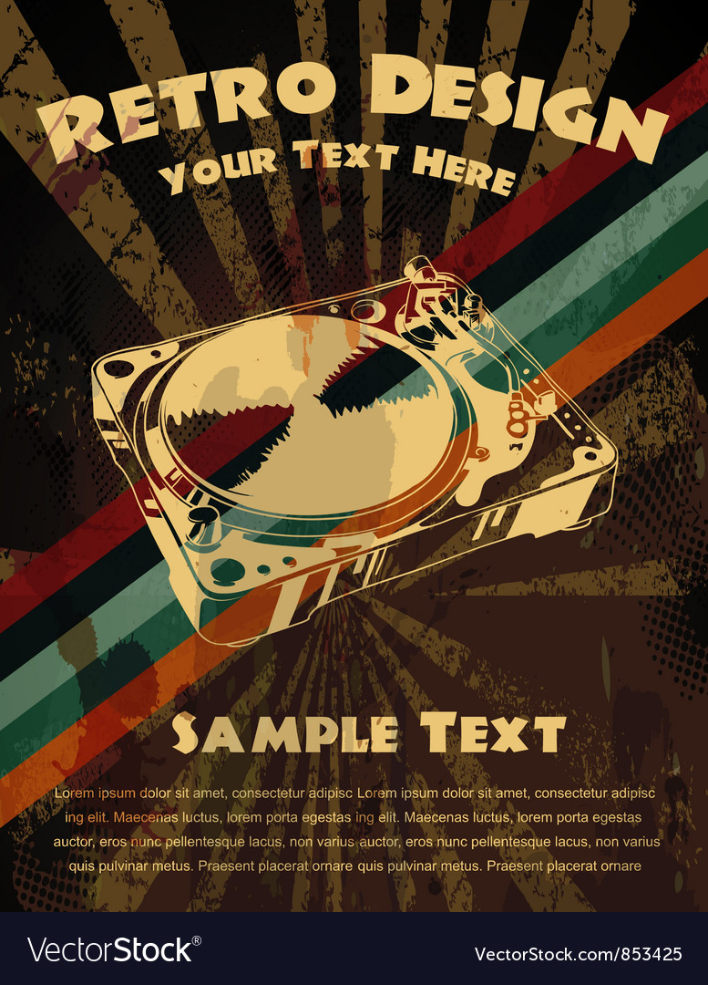 Retro grunge concert poster vector | Price: 1 Credit (USD $1)