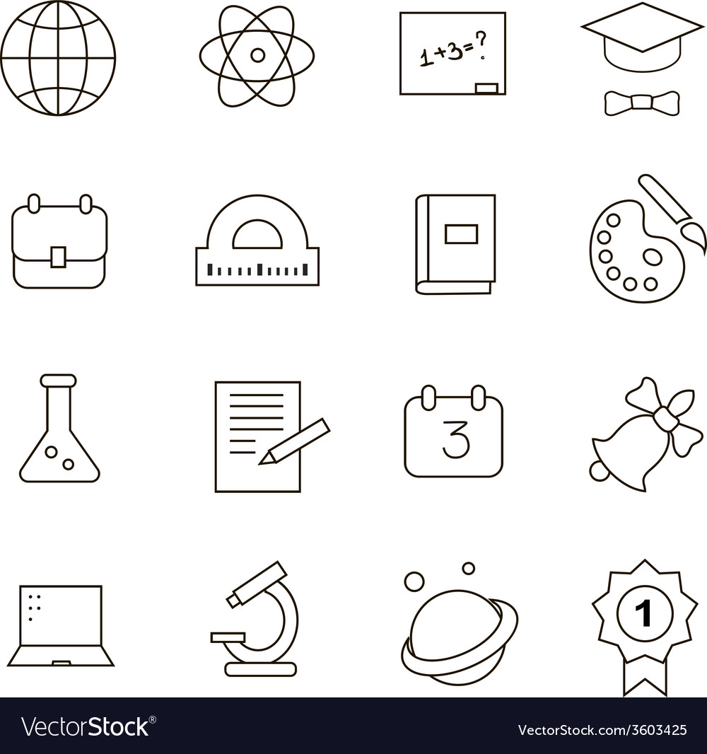 School education icons vector | Price: 1 Credit (USD $1)