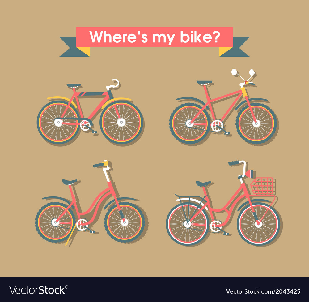 Set bicycle vector | Price: 1 Credit (USD $1)