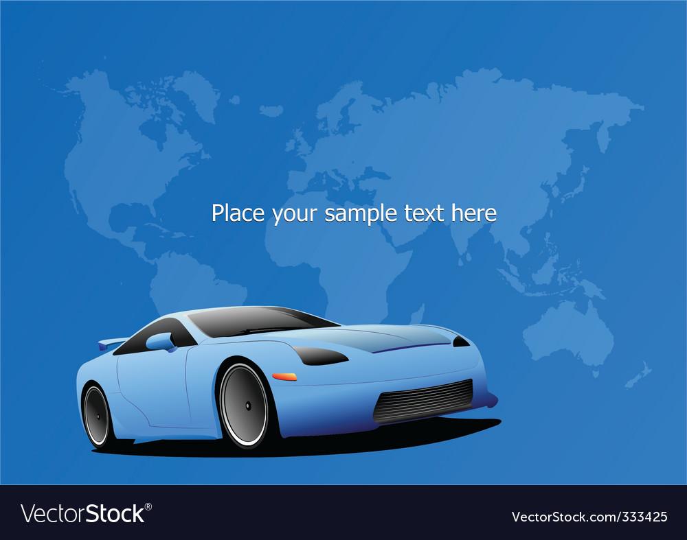 Sportscar poster vector   Price: 1 Credit (USD $1)