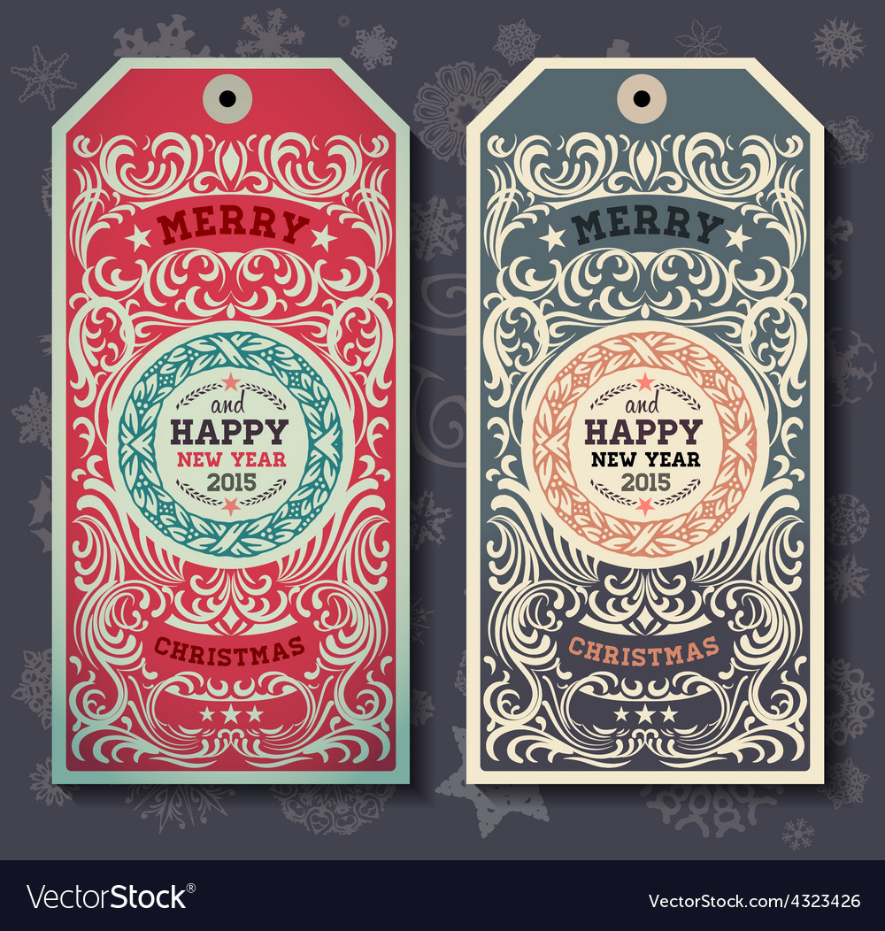 Christmas labesl for xmas and new year holidays vector | Price: 1 Credit (USD $1)
