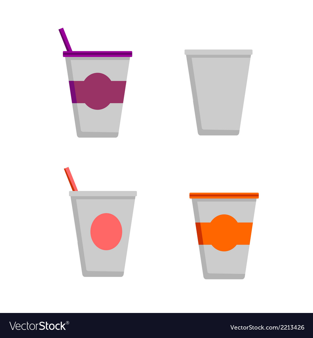 Coffee cups - styro cups vector | Price: 1 Credit (USD $1)