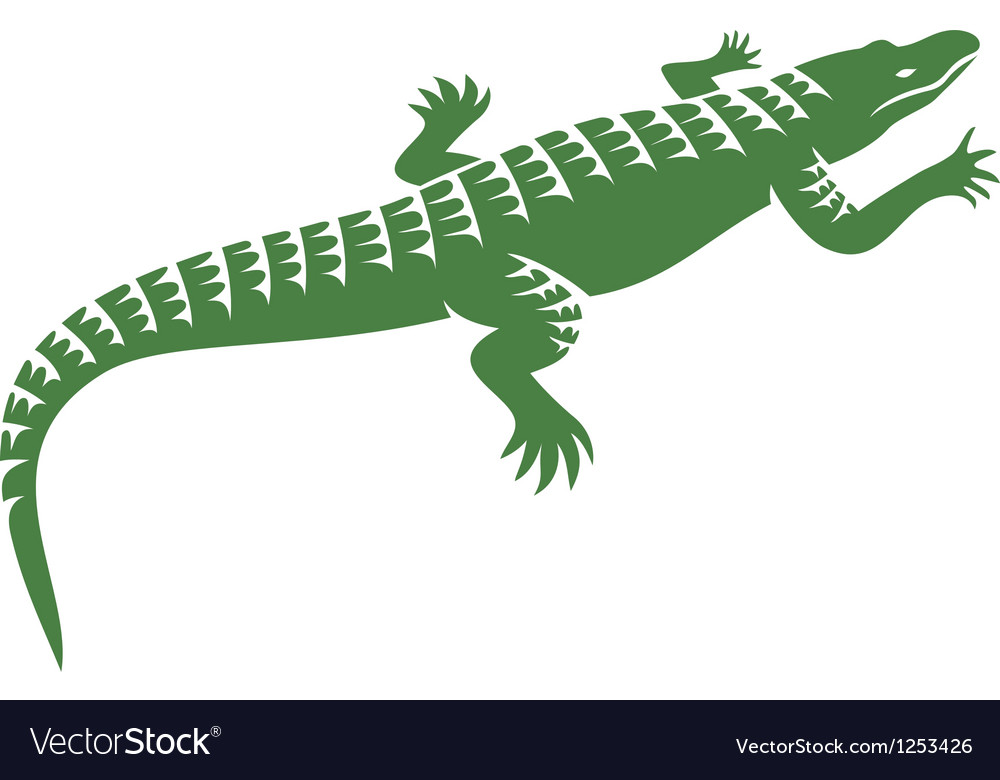 Crocodile design vector | Price: 1 Credit (USD $1)