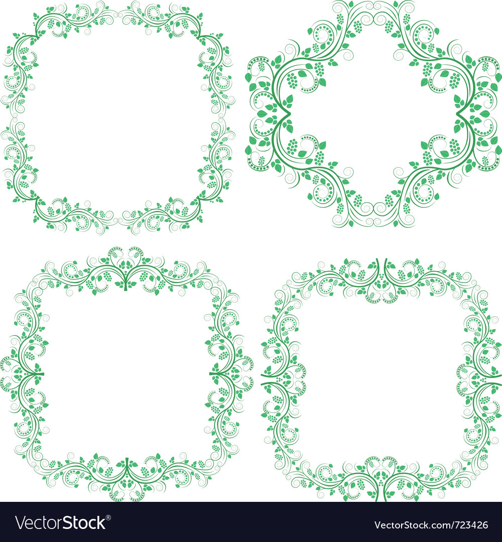 Decorative borders and frames vector | Price: 1 Credit (USD $1)