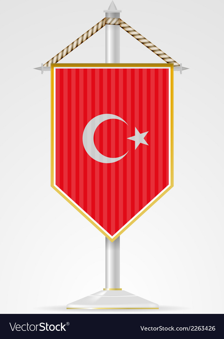 National symbols of asian countries turkey vector | Price: 1 Credit (USD $1)