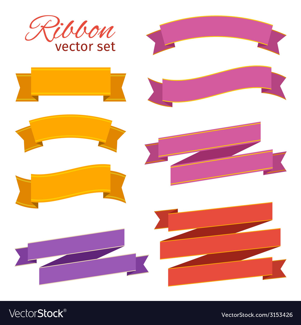Set of business ribbons vintage style for design vector | Price: 1 Credit (USD $1)
