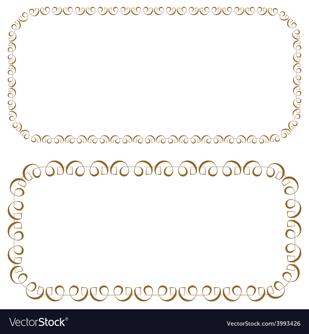 Set of rectangular beautiful frames vector | Price: 1 Credit (USD $1)
