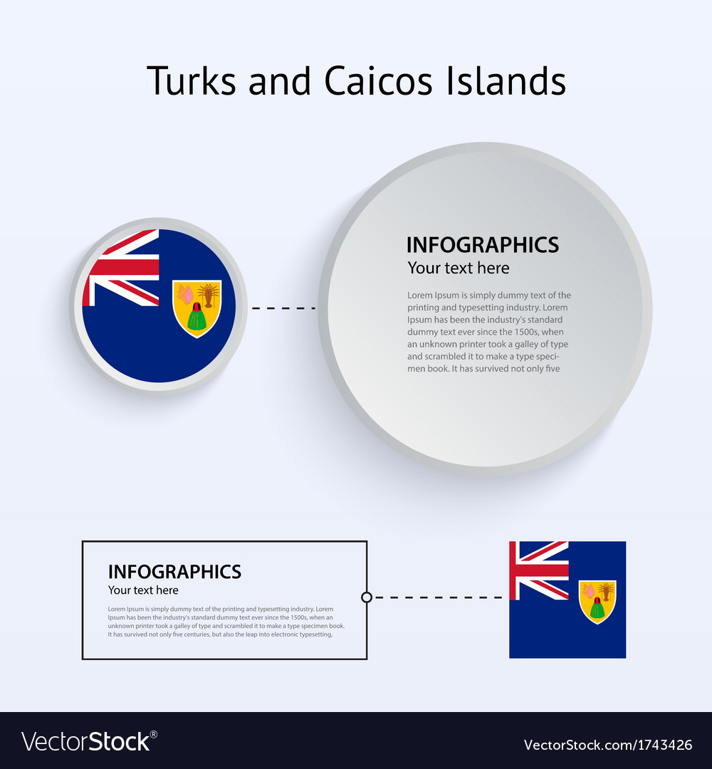 Turks and caicos islands country set of banners vector | Price: 1 Credit (USD $1)