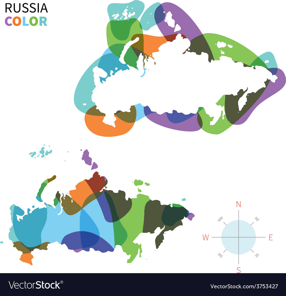 Abstract color map of russia vector | Price: 1 Credit (USD $1)