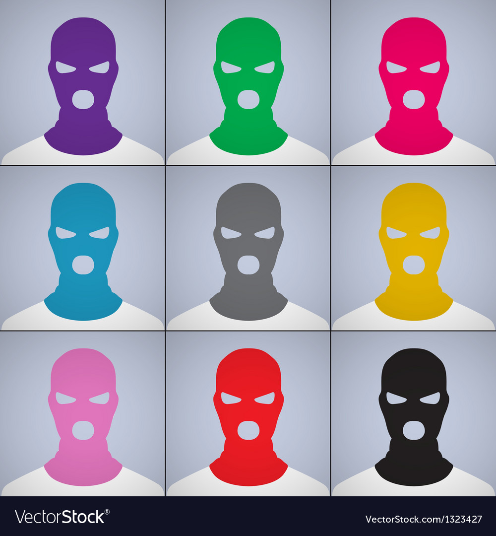 The anonymous author of avatars in a cap-mask vector | Price: 1 Credit (USD $1)