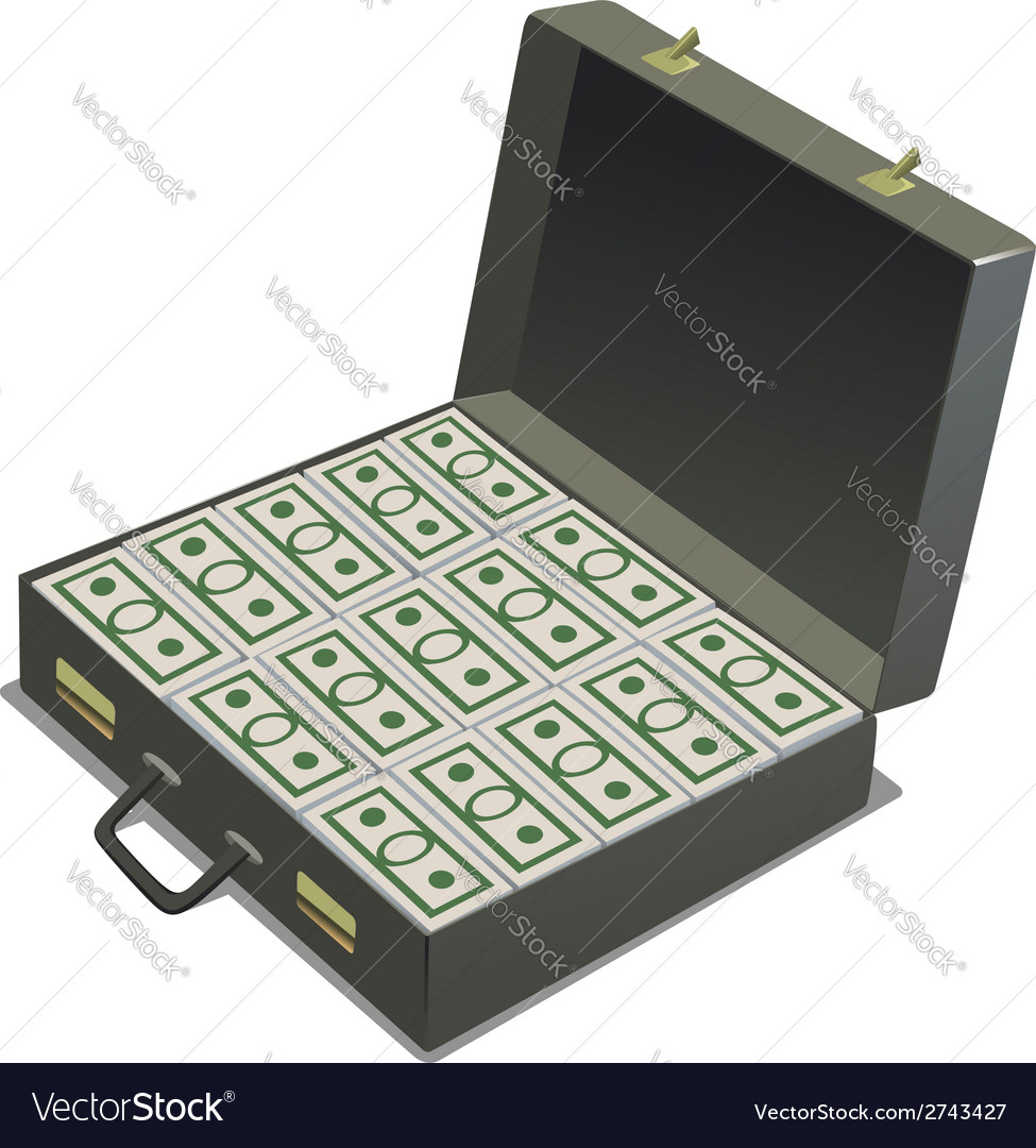 Briefcase with money vector | Price: 1 Credit (USD $1)