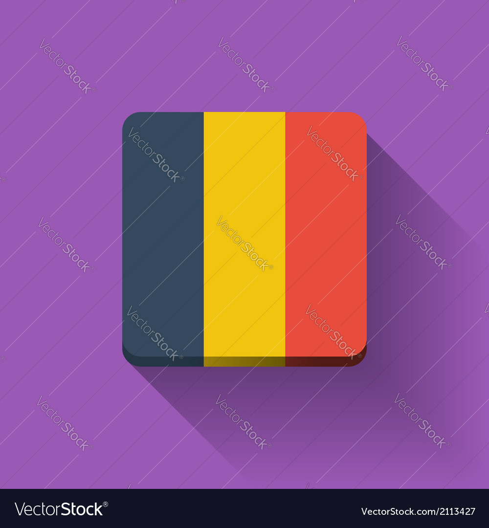 Button with flag of romania vector | Price: 1 Credit (USD $1)