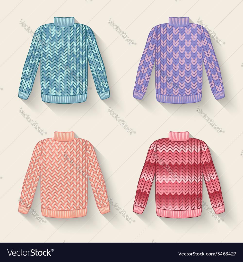 Cute sweater set vector | Price: 1 Credit (USD $1)