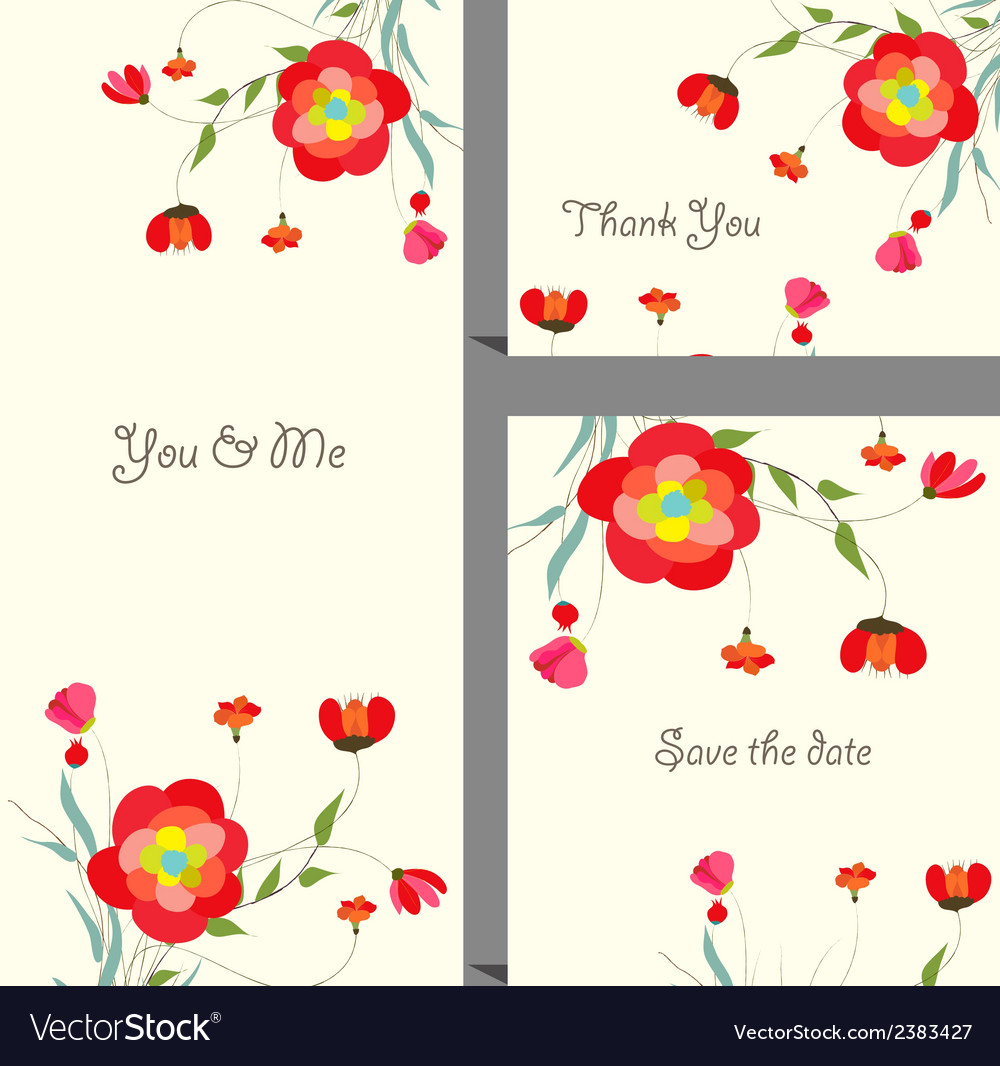 Floral and decorative designs vector | Price: 1 Credit (USD $1)