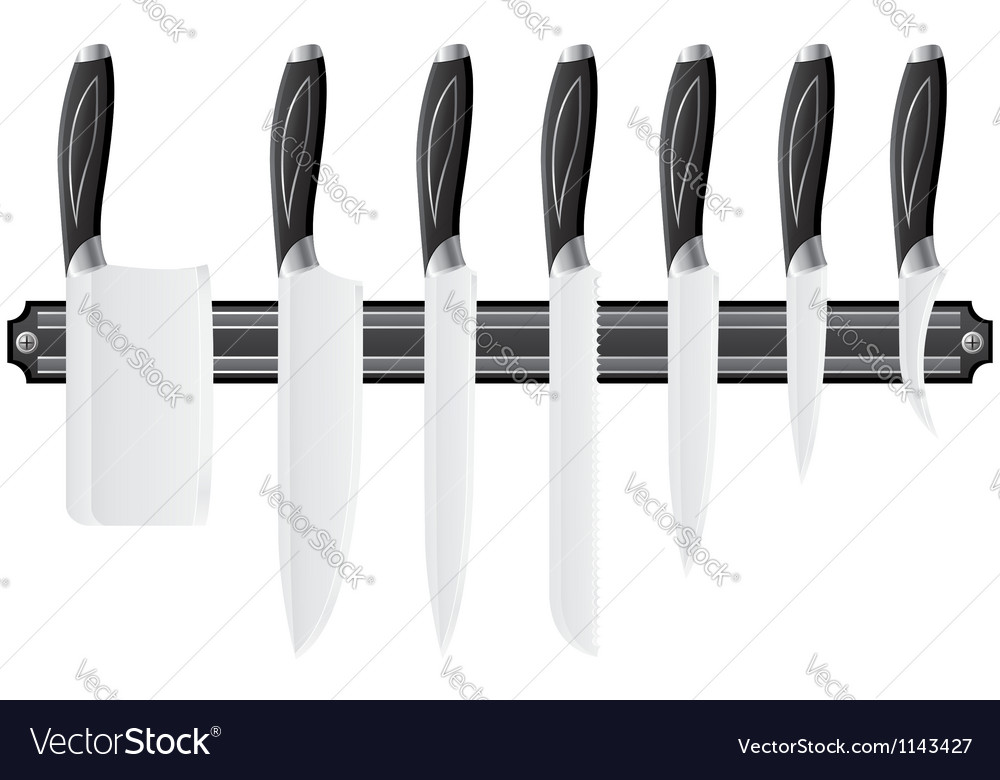 Knife set for the kitchen 02 vector | Price: 1 Credit (USD $1)