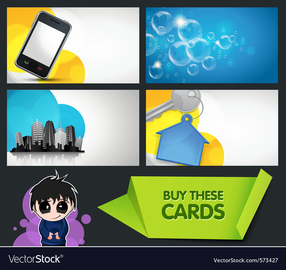 Modern business cards vector | Price: 3 Credit (USD $3)