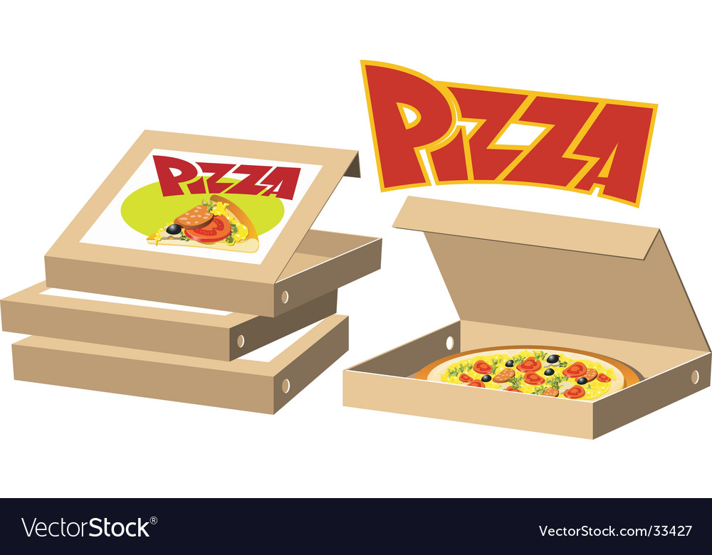 Pizza boxes vector | Price: 3 Credit (USD $3)