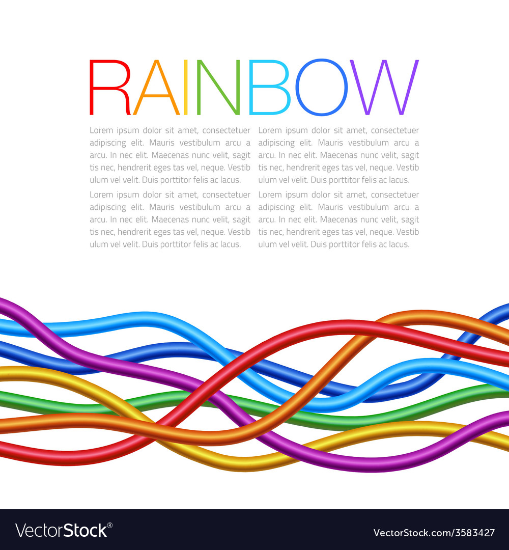Rainbow twisted bright vibrant wares vector | Price: 1 Credit (USD $1)