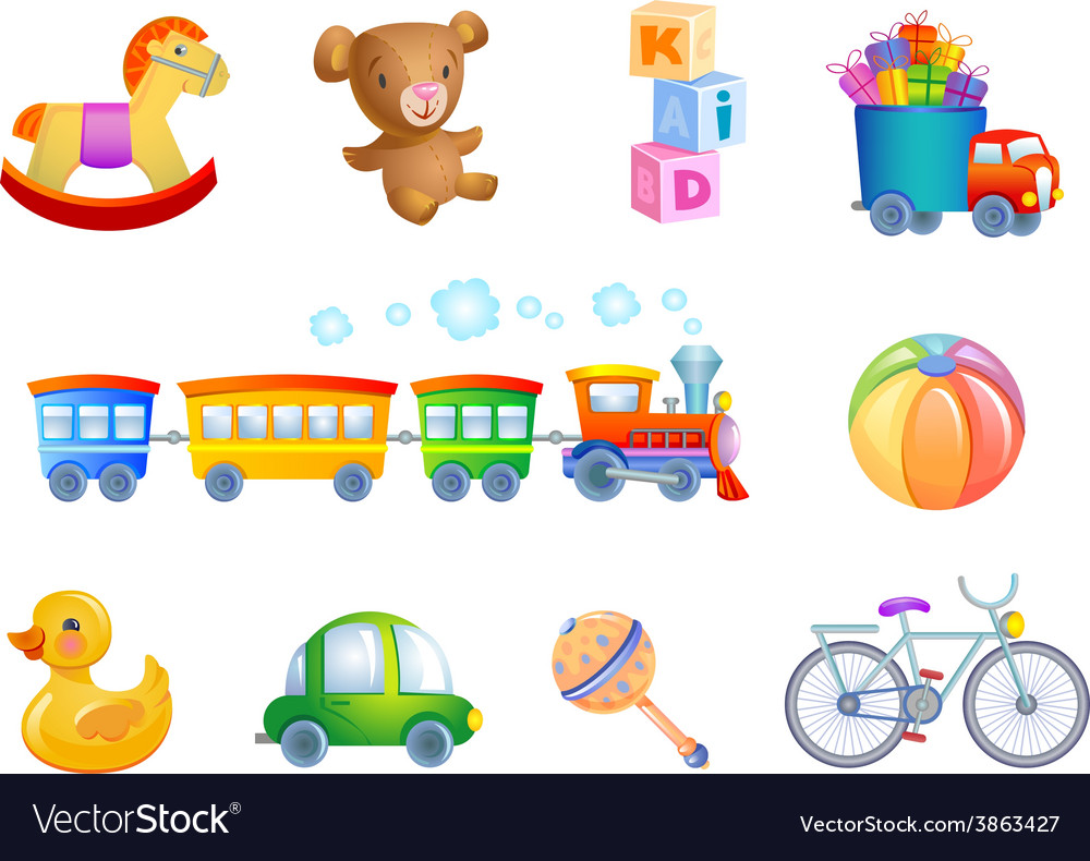 Set of 10 toys for kid vector | Price: 3 Credit (USD $3)