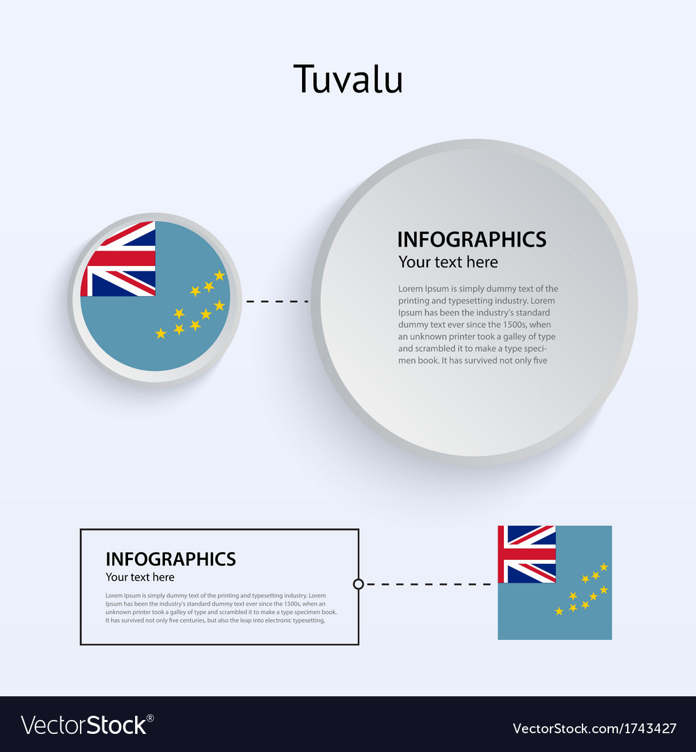 Tuvalu country set of banners vector | Price: 1 Credit (USD $1)