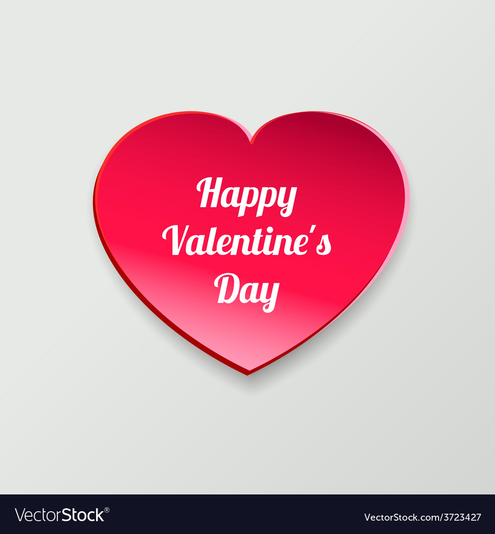 Valentines day card paper heart vector | Price: 1 Credit (USD $1)