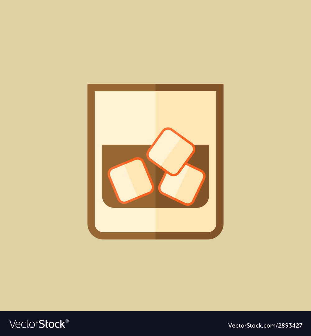 Whiskey food flat icon vector | Price: 1 Credit (USD $1)
