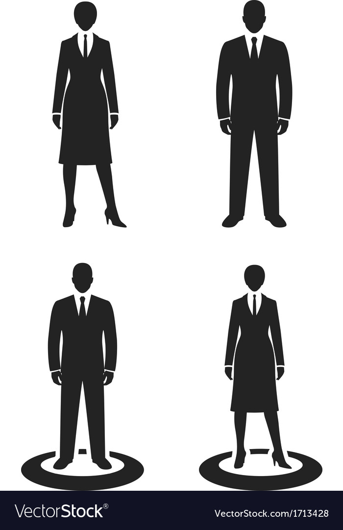 Business people black web icon vector | Price: 1 Credit (USD $1)